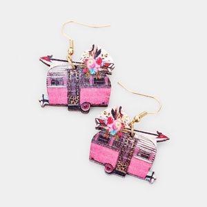 ⛺️Cute Wooden Camper Earrings